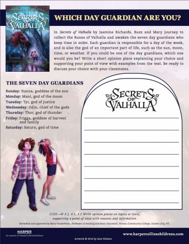 Secrets of Valhalla free classroom worksheet